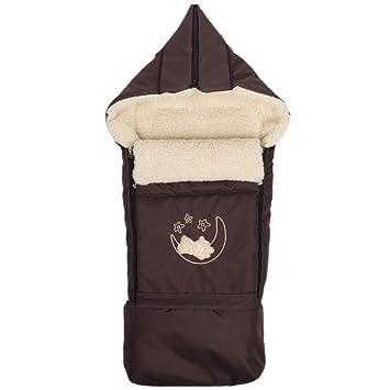 Lammwolle Winter Fußsack Sack Fußsack Hörnchen Babyfußsack Mit Reißverschluss Schlitten Kinderwagen Babyschale 40 X 90 107 Cm Braun Baby