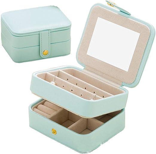 Jewelry Organizer Case Nasion V Travel Portable Storage Box For Earring Lipstick Necklace Bracelet Ring Light Blue Amazon Ca Home Kitchen