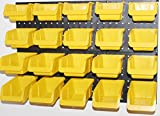 WallPeg Storage System with Panels, Pegboard Bins, Peg Board Panel Set - Parts Organizer (20 Bin Kit)