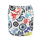 LBB(TM) Baby Resuable Washable Cloth Pocket Diaper, Bicycle