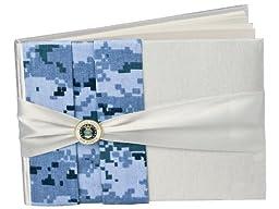 Jamie Lynn Digital Military Camouflage Guest Book, Blue, Air Force