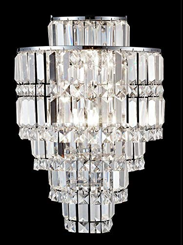 Dale Tiffany GW13348 Cathedral Crystal Wall Sconce Polished Chrome ()