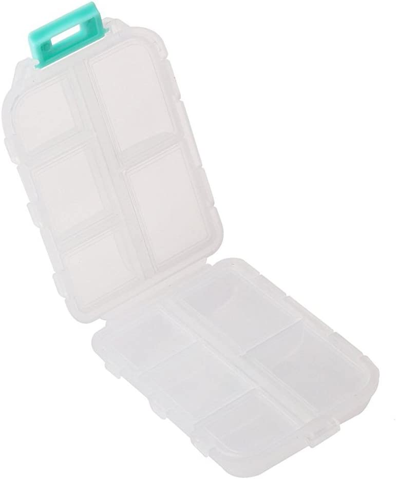 Seahorse pill box Square Pill box Blue seahorse Square Pill case Seahorse pill case Pill Case 4 Sections 4245 Pill Box