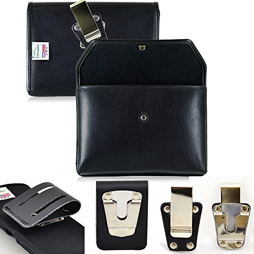 Genuine Leather Cell Phone Style Concealed Weapon Carry Case fits Ruger SR22 Rimfire Pistol. Size 6.75 inches wide, 4.5 inches tall, 1 inch thick. Gun Holster has snap closure for security with tall sides for complete concealment. Locking D Ring Metal Clip Guaranteed not to Break. Comes with both steel clip and 3