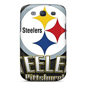 CharlesPoirier Samsung Galaxy S3 Scratch Protection Phone Cases Allow Personal Design Realistic Pittsburgh Steelers Skin [PdX17471brrL]