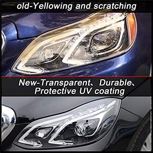 W212 2014-2015 SODIAL Linke Scheinwerfer Linse Klare Linse Auto Shell Abdeckung f/ür Mercedes