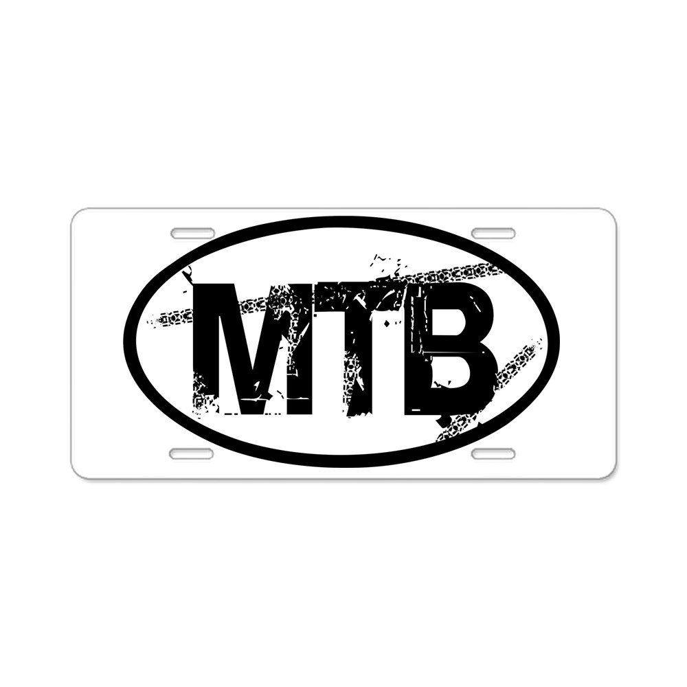 CafePress Aluminum License Plate MTB Oval Aluminum License Plate Vanity Tag Front License Plate