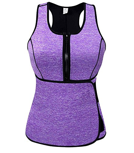 Slimmkiss Women Sauna Shirt Slimming Sweat Vest Tops Neoprene Body Shapers for Weight Loss