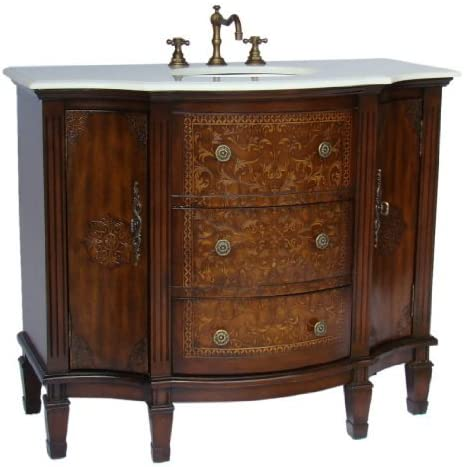 42 Benton Collection Stunning Algaringo Bathroom Sink Vanity - Model HF1214