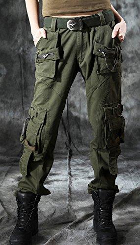 6dfacb511a7 chouyatou Women s Casual Camouflage Multi Pockets Cargo Pants at Amazon  Women s Clothing store