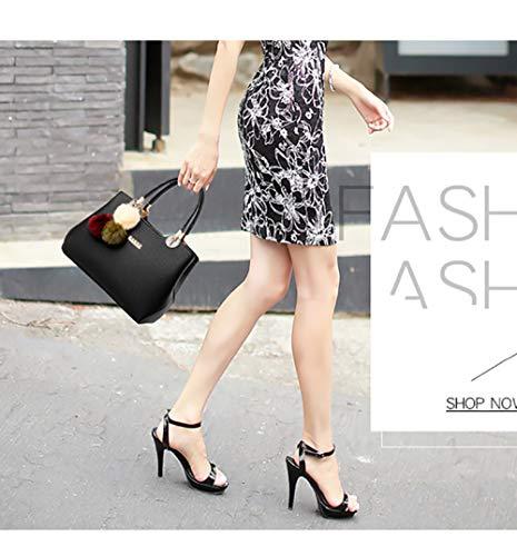 Per Mano A Pelle Moda Da Secchiello Tracolla Borsa Viaggio Spalla Cosmetica Black Flht Donna In tHEw5Fq