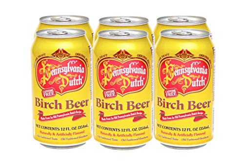 Dutch Birch Beer - PA Dutch Birch Beer, Popular Amish Beverage, 12 Oz. Cans (Two 6-Packs)