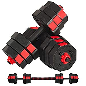 Well-Being-Matters 51-Vz7yMwFL._SS300_ SOSUSHOE Weights Dumbbells Set Adjustable to 44Lbs, Free Weight Set for Men and Women Home Weight Set Fitness Barbell…