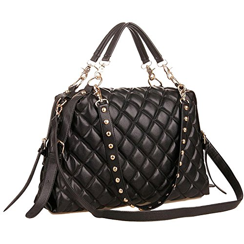 MG Collection Mizu Quilted Shopper Tote Convertible Shoulder Bag, Black, One Size (Quilted Shopper Tote compare prices)