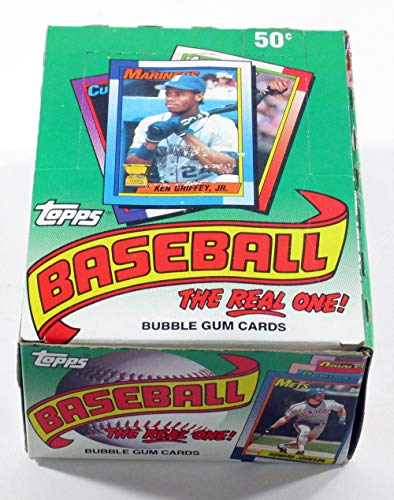 (1990 Topps Baseball Cards Box (36 packs/box, possible Sosa & Thomas Rookies))