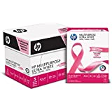 HP Printer Paper, Multipurpose20, 8.5 x 11, Letter, 20lb, 96 Bright, 2,500 Sheets / 5 Ream Carton (115100PC) Made In The USA