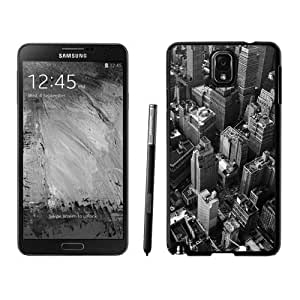 NEW Unique Custom Designed Samsung Galaxy Note 3 N900A N900V N900P N900T Phone Case With Looking Down New York City Grayscale_Black Phone Case