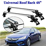 "2pc Car Sedan Cross Bars Roof Rack, Adjustable Aluminum 48"" Max Load 150 lbs for Nissan Altima Sentra Versa"
