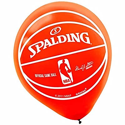 """Spalding Basketball Collection"" Printed Latex Balloons, Party Decoration: Toys & Games"