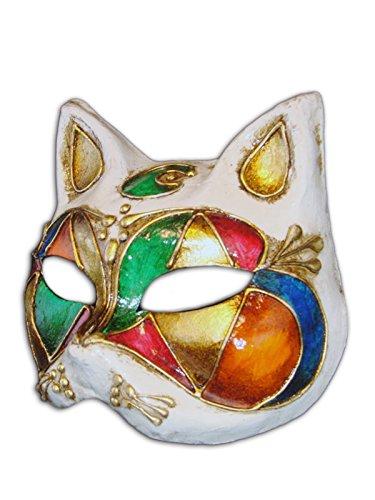 Magic of Venezia Venetian Half Face Cat Mask Gatto Luna for Women
