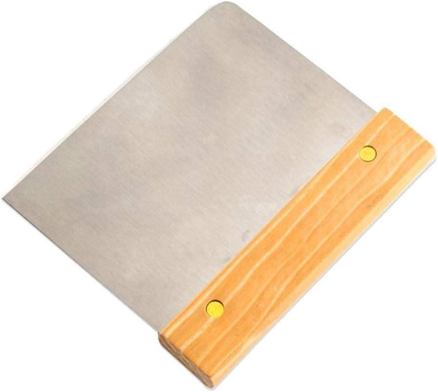 JYSLI Sana Cuchillo de harina de Corte de Acero Inoxidable Panel de Madera handlescraping Tostadas de Pan de Corte Herramienta hornada de la Cocina la Pasta Cortador raspador diseño (Color : Yellow)