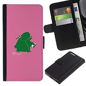 KLONGSHOP // Tirón de la caja Cartera de cuero con ranuras para tarjetas - Izann divertido - Apple Iphone 6 PLUS 5.5 //