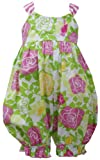 Pink Green Crossover X-Back Rose Floral Print
