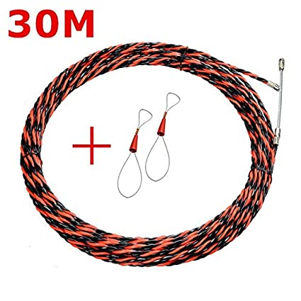 Nylon Wire Cable Rod Electrician Push Puller Duct Fish 5//10//15//20//30M x 3mm Dia