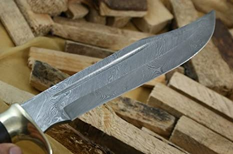 Amazon.com: Knife King Big Bro damascus bowie knife Comes ...