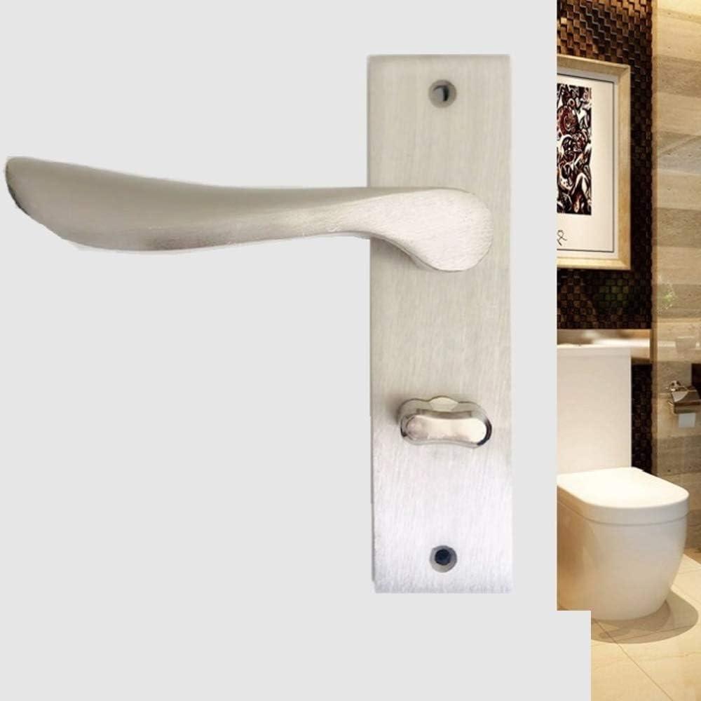 Universal baño interior de la puerta Cerraduras Cerraduras sin llave Aseo Baño Aseo Cerraduras de bloqueo Pequeño 125mm Lengua simple instalación, cómodo de usar (Lock : Without lock, Size : 40mm): Amazon.es: