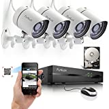 Funlux 4CH Scan QR Code Quick View Network NVR Kit POE 720P HD Night Vision IP CCTV Security Camera System 500gb Hard Drive
