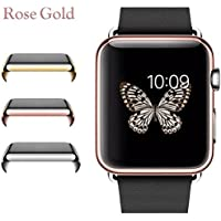 Josi Minea Apple Watch [38mm] Protective Snap-On Case with Built-in Clear Glass Screen Protector - Anti-Scratch...