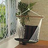 Oak N Oak Comfortable & Relaxing Indoor & Outdoor Hanging Chair Furniture - Tropical Palm Stripe