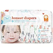 The Honest Company Disposable Baby Diapers, Multi Colored Giraffes, Size 3, 34 Count