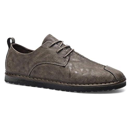 Huatime Zapatos para Hombre Mocasines Oxford Casual Cuero