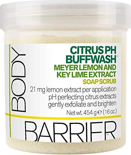 (Body Barrier Citrus pH Buffwash Meyer Lemon & Key Lime Extract Soap Scrub, 16 fl.)