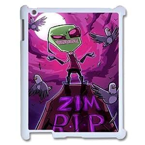 FOR Ipad 2/3/4 Case -(DXJ PHONE CASE)-Cartoon Game Pattern Invader Zim Gir-PATTERN 12