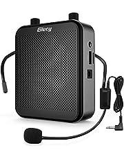 Giecy Spraakversterker draagbare bluetooth luidspreker (30 W) met 7,4 V/2800 mAh lithium batterij en microfoon headset, oplaadbare mini-stemversterker voor leraren, reizigers, vergaderingen