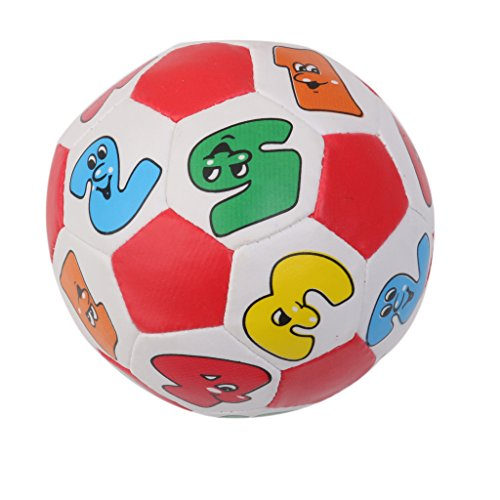 Colorful Number Design Small Soft Plush Ball Baby Toddler Playset Toy (Infant Bouncy Toy)