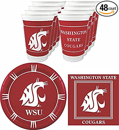 48 pieces Westrick Washington State Cougars Party Supplies