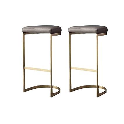 Amazon Com Gy Bar Stool Modern Bar Chair Leather Seat And Metal