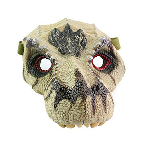Dinosaur Mask, Coxeer Latex Animal Masks Scary Halloween Mask Masquerade Mask