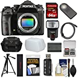 Pentax K-1 Mark II Full Frame Wi-Fi Digital SLR Camera Body 64GB Card + Battery + Flash + Tripod + Cases + Kit