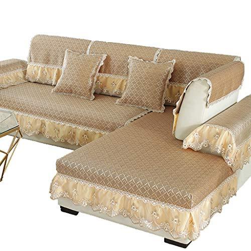 GDSFT Sofa Covers, Summer Sofa Cushion Cool Mat Living Room Universal Cushion Ice Silk Rattan mat Non-Slip Sofa Cover Settee Pet Dog Protector (Size : 70210CM(2882in))