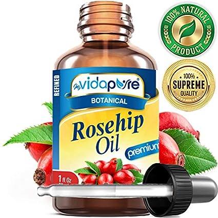 ACEITE DE ROSA con altos contenidos de Vitaminas A, C, E. Beneficios contra
