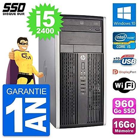 HP PC Tour Compaq Pro 6300 CMT Intel i5-2400 RAM 16GB SSD 960GB ...