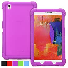 Poetic Samsung Galaxy Tab Pro 8.4 Case [TURTLE SKIN Series] - Rugged Silicone Case for Samsung Galaxy Tab Pro 8.4 (SM-T320 / SM-T325) Purple (3-Year Manufacturer Warranty from Poetic)