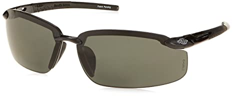 4ab2a350af Crossfire Eyewear 2941420 2.0 Diopter ES5 Safety Glasses with Black Frame  and Smoke Polarized Lens