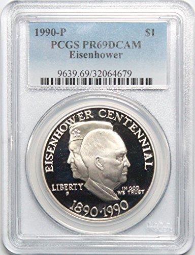 - 1990 P Eisenhower Ike Dollar $1 PR69DCAM PCGS