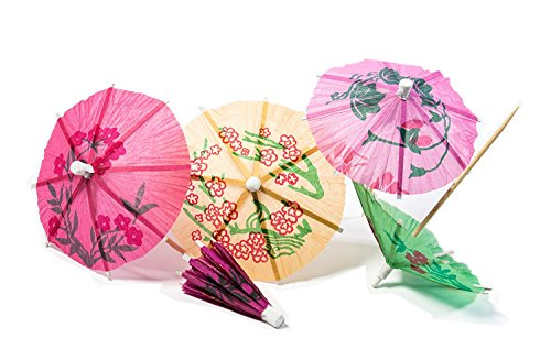 Set of 240 Assorted Colors And Designs Drink Parasols! Perfect to Have for Any Party With Drinks Being Served!